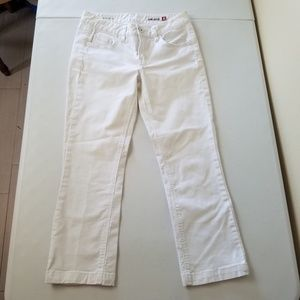 Jag Jeans Mid Rise Crop White